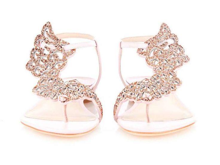 sandali bassi da sposa