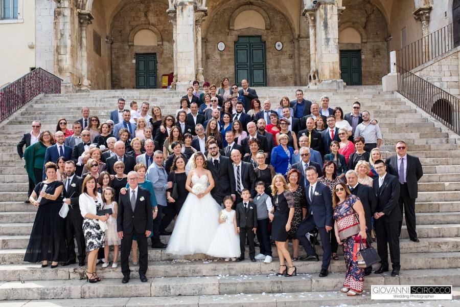 foto di gruppo Matrimonio Priverno