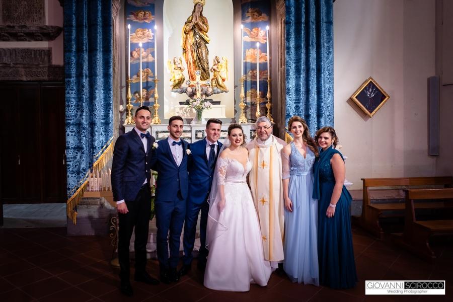 foto di gruppo Sposi
