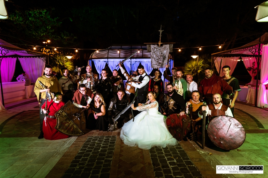 Matrimonio tema fantasy