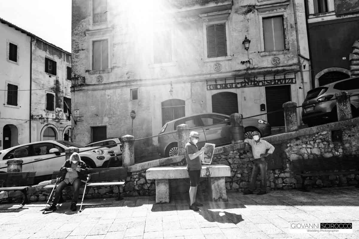scene post quarantena piazza del comune Priverno