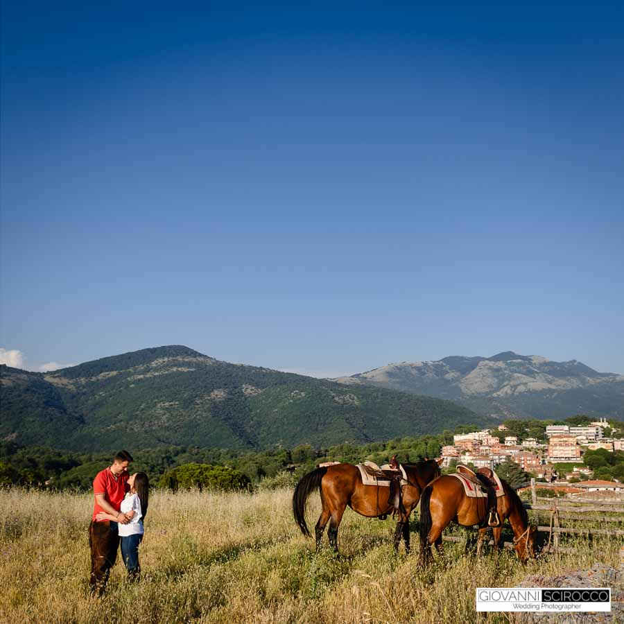 preamatrimoniale a cavallo